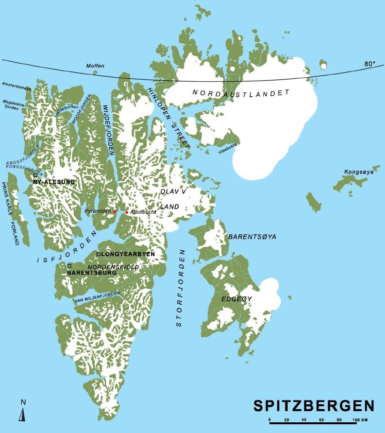 spitzbergen karte Allgemeine Informationen zu unseren Spitzbergenreisen